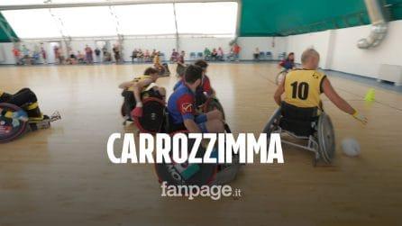 """""""Carrozzimma"""", la partita di Wheelchair Rugby tra """"normodotati"""" e atleti paralimpici"""