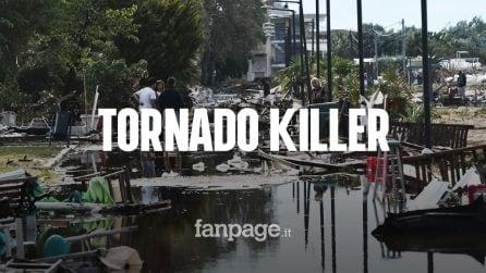 Grecia, tornado devastante: 6 morti e 30 feriti. Uccisi un papà col figlio di 2 anni