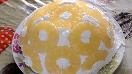Zuccotto all'ananas: il dessert senza cottura da leccarsi i baffi