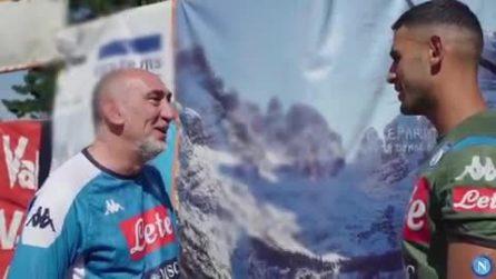 """Ghoulam esaudisce il desiderio di un tifoso del Napoli: """"Sono arrivato da Torino e sono felicissimo"""""""
