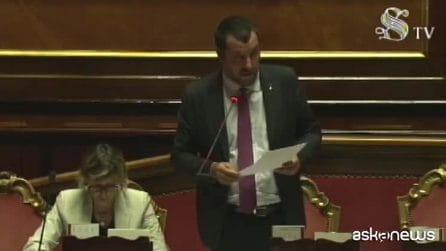 """Salvini: """"Proiettili non mi fermano, Parlamento condanni unito"""""""