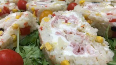Girelle di insalata di riso ripiene: la ricetta estiva e deliziosa