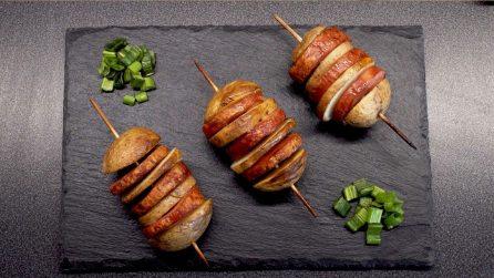Spiedini di patate e wurstel: sfiziosi, veloci e saporiti!