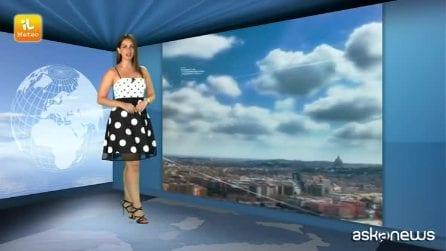 Previsioni meteo per domenica, 14 luglio