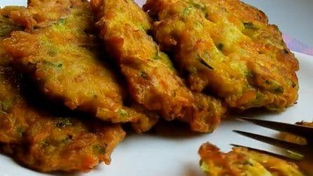 Frittelle di verdure con zucchine: il piatto semplice ma pieno di gusto