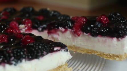Cheesecake ai frutti di bosco: bella, buona e cremosissima