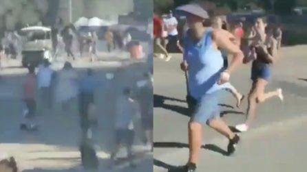 California, spari sulla folla durante un festival: persone spaventate in fuga