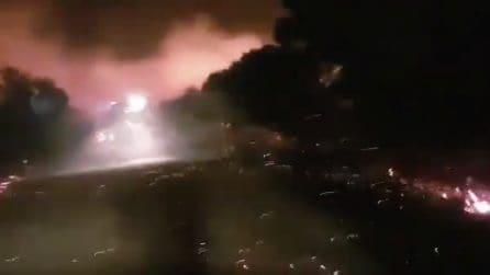Sardegna, rogo invade la statale: un inferno di fuoco