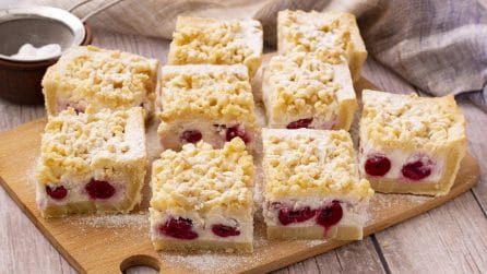 Crostata di ricotta e ciliegie: croccante fuori e morbida dentro!