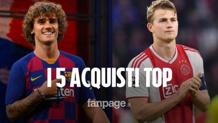 Da Griezmann a de Ligt, è un calciomercato da 2 miliardi di euro: ecco i 5 acquisti top