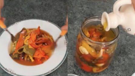 Peperoni arrostiti e sott'olio: il contorno saporito e semplice da preparare
