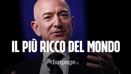 """Jeff Bezos è l'uomo più ricco del mondo: domina la classifica dei """"Paperoni"""" di Bloomberg"""