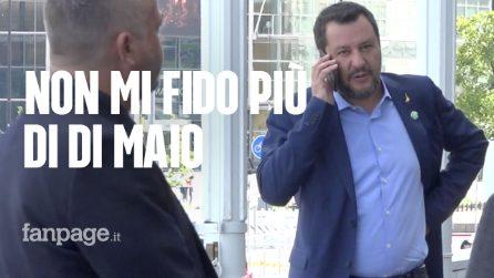 """Governo, Salvini: """"Con Di Maio ormai manca la fiducia. Strano governare con chi ti insulta"""""""