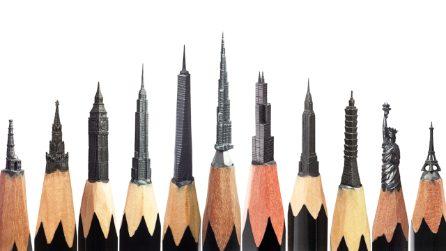 Opere d'arte in formato micro. Salavat Fidai, l'artista che crea sculture con le punte di matita