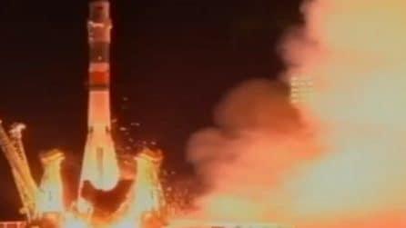 Luca Parmitano a bordo della Soyuz: il video della partenza
