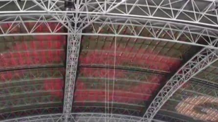 Juventus-Tottenham: cosa succede alla copertura dello stadio quando le squadre segnano