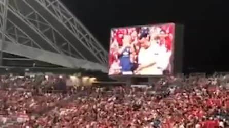 Accade durante Inter-Manchester United: occhio al maxischermo