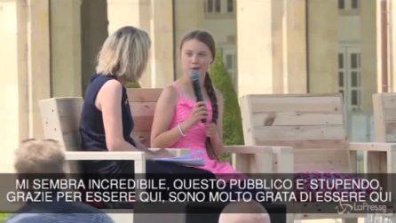 "Greta Thunberg riceve il ""Prix Liberté"" a Caen"