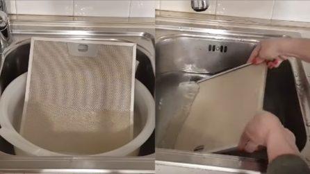 Come pulire il filtro della cappa con 2 ingredienti