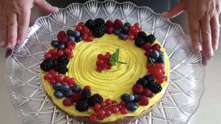 Crostata fredda senza cottura: il dessert che vi sorprenderà