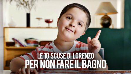 Le 10 scuse di Lorenzo per non fare il bagno