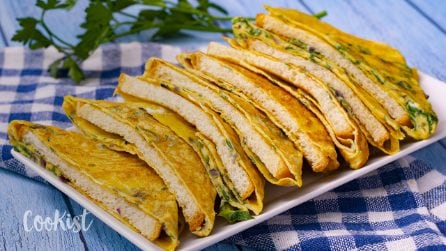 Bread omelette: perfectly suitable to serve as breakfast or snack!