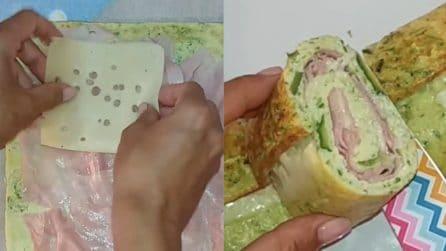 Rotolo di zucchine al forno e ripieno: il secondo piatto che farà impazzire tutti