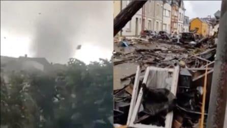 Lussemburgo, tornado si abbatte sulla città: ingenti i danni