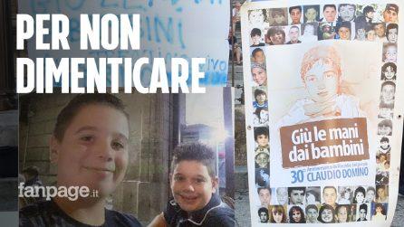 Palermo, sit-in in onore di Alessio e Simone D'Antonio, i due cuginetti di Vittoria travolti e uccisi