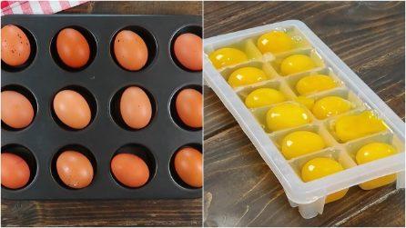 Trucchi semplici e veloci con le uova: resterete sorpresi!