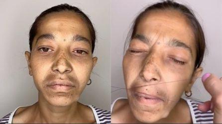Trascurata decide di affidarsi alle mani esperte di una make up artist: la trasformazione