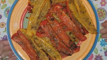 Peperoni gratinati: la ricetta del contorno semplice e gustoso