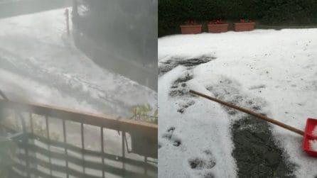 Maltempo Lombardia: pioggia e ghiaccio vengono giù come fiumi