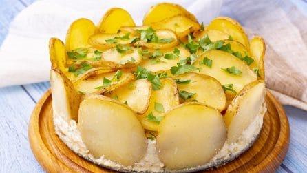 Torta di patate al forno: filante e saporita, ideale per una cena da leccarsi i baffi!