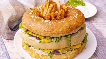 Hamburger gigante: la versione xxl per sfamare tutti i vostri ospiti!