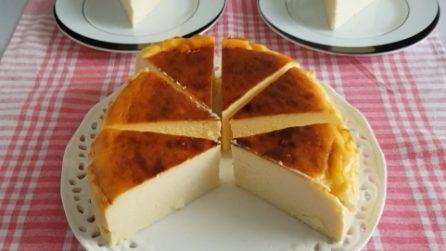 Cheesecake senza base: buona, semplice e cremosa