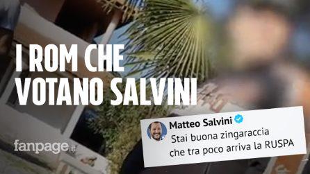 """Matteo Salvini: """"Zingaraccia, arriva la ruspa"""", ma in quel campo alcuni rom hanno votato per lui"""