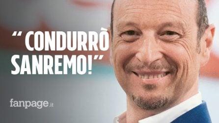 """Saremo 2020, Amadeus ringrazia la Rai: """"Condurrò Sanremo, è il sogno di una vita"""""""