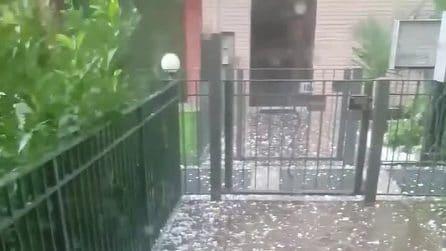 Bergamo, la spaventosa tempesta di grandine