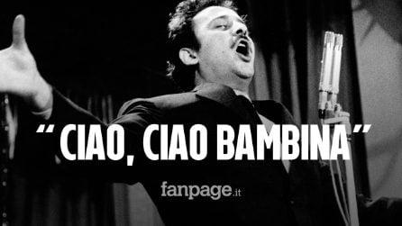 """Domenico Modugno, oggi 25 anni dalla morte del cantante: usciva 60 anni fa la sua """"Piove"""""""