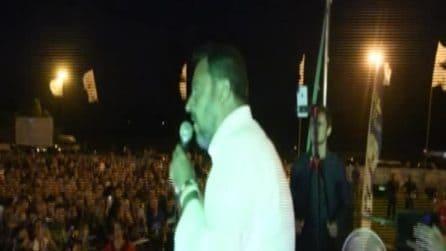 """Salvini: """"Per i giornalisti il problema sono io e non una fottutissima zingaraccia"""""""