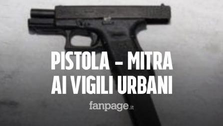 """Pistole-mitra in dotazione ai vigili urbani, il sindaco: """"Li voglio più operativi"""""""