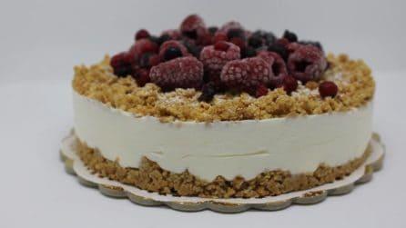 Cheesecake con doppio strato di croccantezza: impossibile resistere