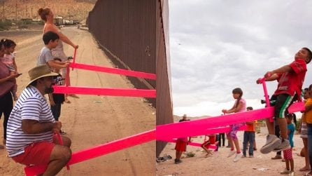 """Il significato dell'altalena rosa al confine tra USA e Messico: """"Dovremmo imparare dai bambini"""""""
