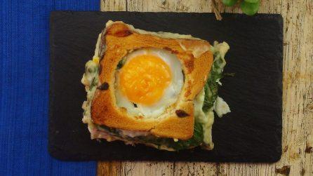 Toast uova e spinaci: un'idea sfiziosa per una cena pronta in pochi minuti!