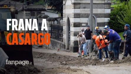 """Casargo, frana spezza in due il paese, 146 sfollati: """"Grande spavento, è successo all'improvviso"""""""