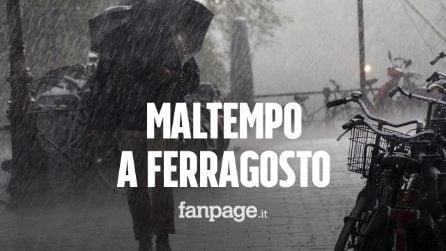 """Maltempo a Ferragosto: """"Perturbazione improvvisa porterà temporali e grandinate"""""""