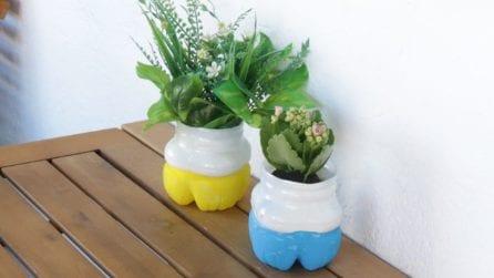 Come riciclare delle bottiglie di plastica in modo originale ed abbellire il proprio terrazzo!