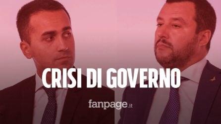 """Crisi di Governo. Si chiude l'era M5S - Lega, Salvini: """"Andiamo a votare"""""""