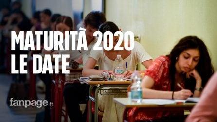 Maturità 2020: il calendario con le date delle prove scritte